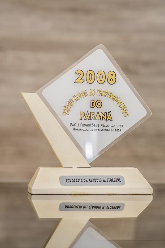 Prêmio Honra ao Profissionalismo do Paraná 2008